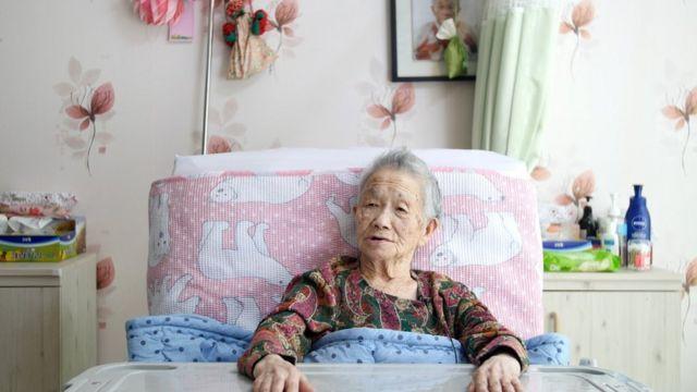 생존자 중 최고령자인 정복수(103) 할머니