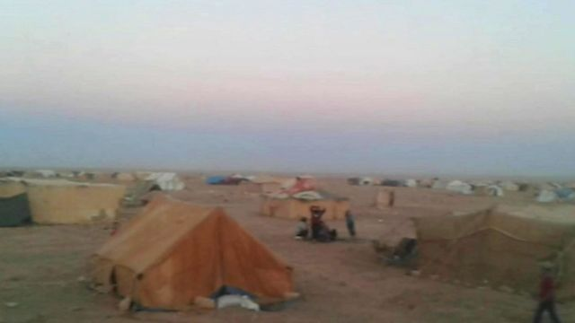 Rukban camp, Jordan's border with Syria