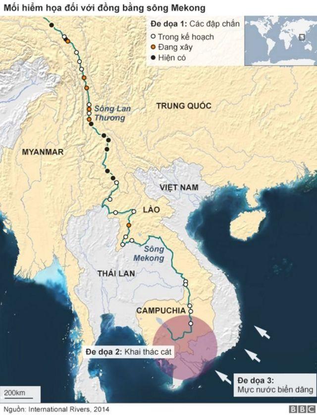 Khu vực ĐBSCL đã đối mặt với những hiểm họa về khai thác cát, biến đổi khí hậu và các đập chắn từ nhiều năm trước.