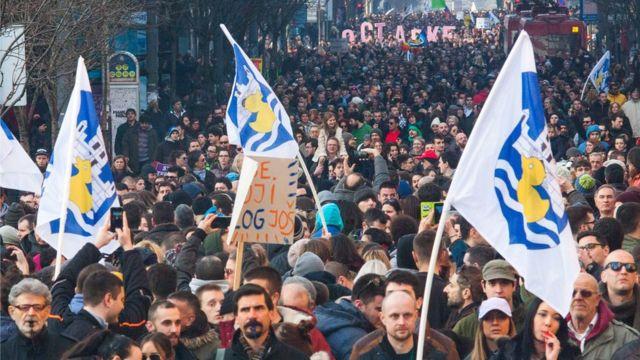 Jedan od protesta Inicijative Ne Davimo Beograd