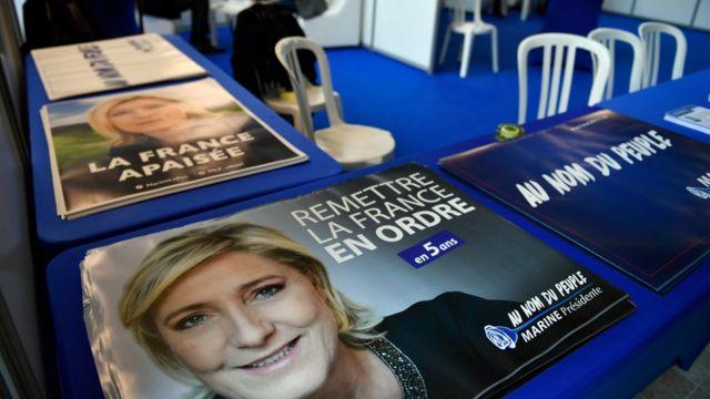 مارين لوبان على أغلفة الصحف والمجلات الفرنسية