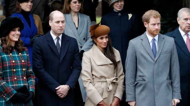 Kate, Pangerah William, Meghan, Pangeran Harry dan Pangeran Andrew.