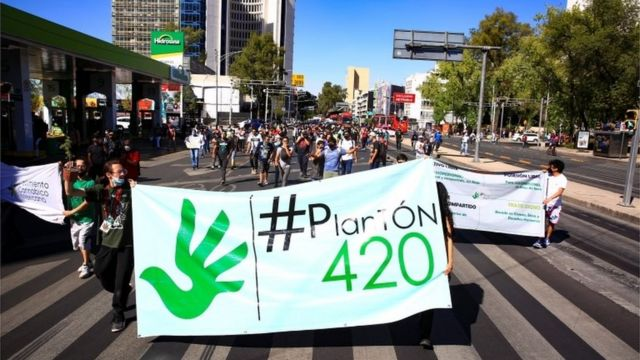 A march for legal marijuana
