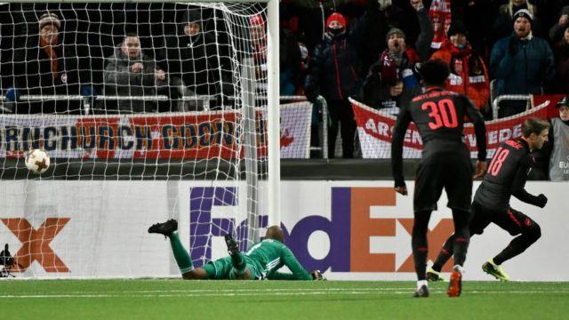 Arsenal jẹ amin ayo ninu idije Europa