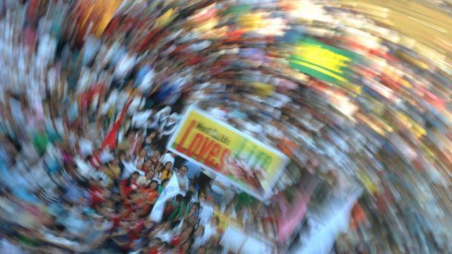 Manifestación contra la Ley de Salud Reproductiva, Manila, 25 de marzo, 2011.