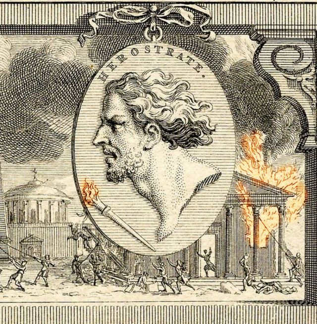 Ilustraçào de Heróstrato