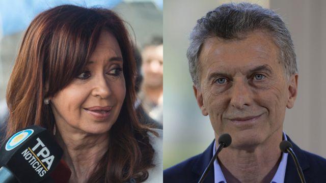Cristina Fernández de Kirchner y Mauricio Macri