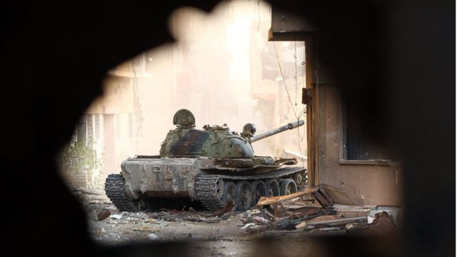 دبابة تابعة لقوات حفتر