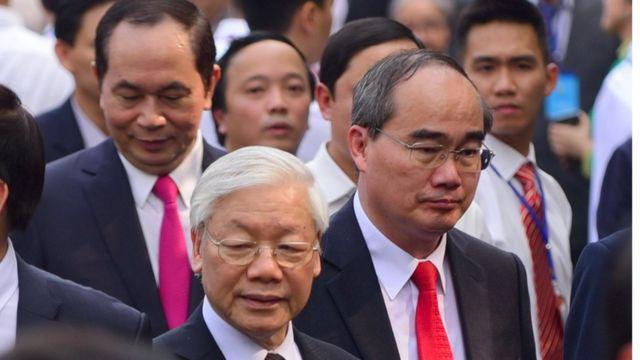 Tổng Bí thư Nguyễn Phú Trọng cùng các lãnh đạo cao cấp dự lễ hôm 31/1