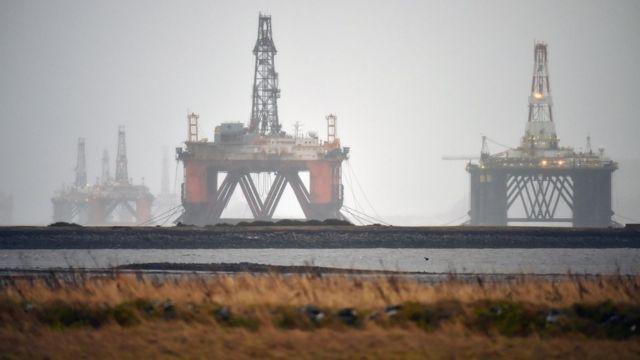 Şotlandiya yaxınlığında neft quyusu