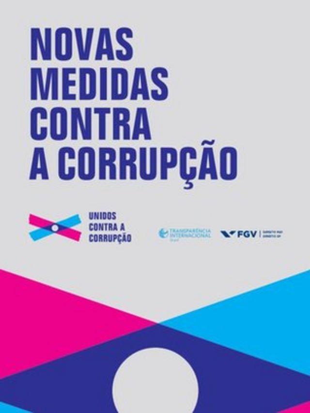 Capa do livro 'Novas Medidas contra a Corrupção'