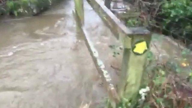 Flooding at Llanfairfechan
