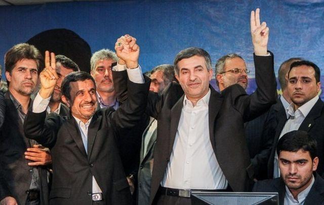 اسفندیار رحیم مشایی و نامزد مورد حمایت محمود احمدینژاد