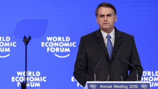 Jair Bolsonaro discursa em Davos
