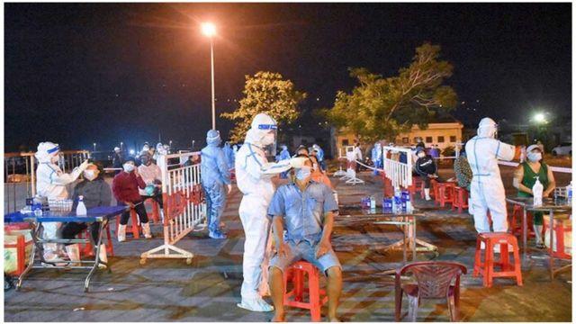 Xét nghiệm nhanh ở Bắc Giang