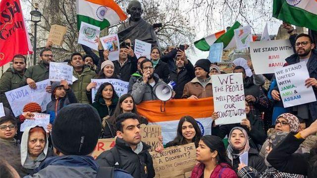 सीएए पर विरोध प्रदर्शन