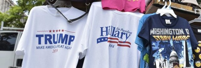 Trump and Clinton t shirts