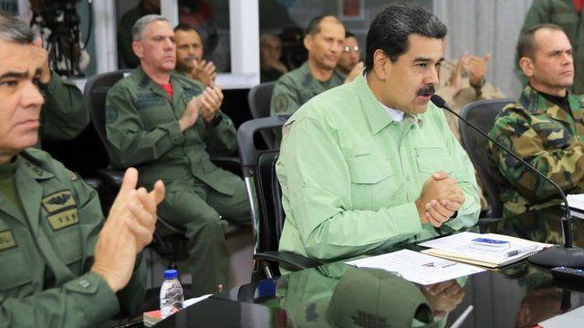 Maduro junto a militares