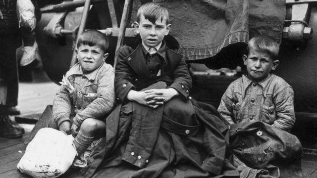 Niños durante la Guerra Civil Española