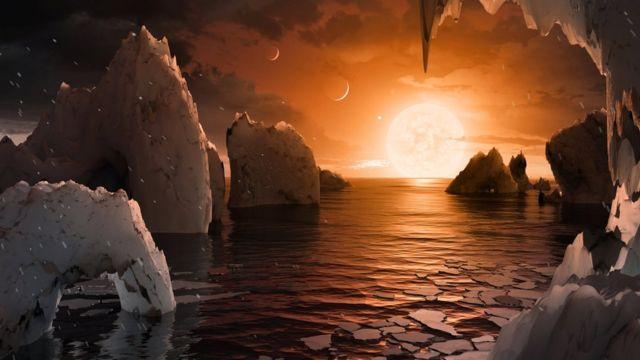 """поверхность звезды """"Траппист-1"""" по версии НАСА"""
