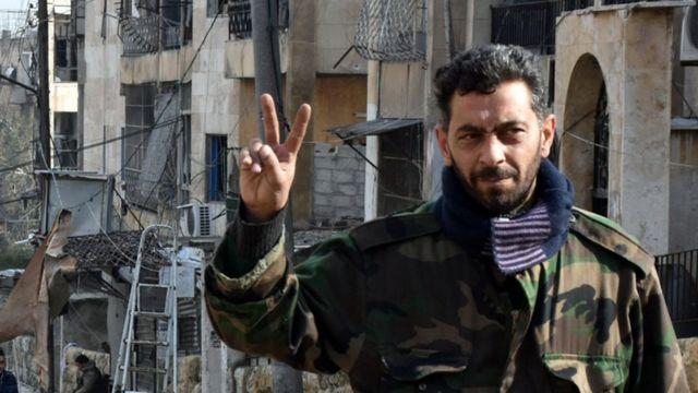 सीरियाई सेना के एक जवान
