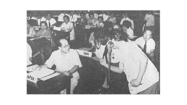 Các người đại diện tham gia Hội Thảo ở Manila, Phi Luật Tân (nguồn ảnh: United States Information Agency (Sở Thông Tin Hoa Kỳ), đăng trên tạp chí Musical America tháng 7 1956)