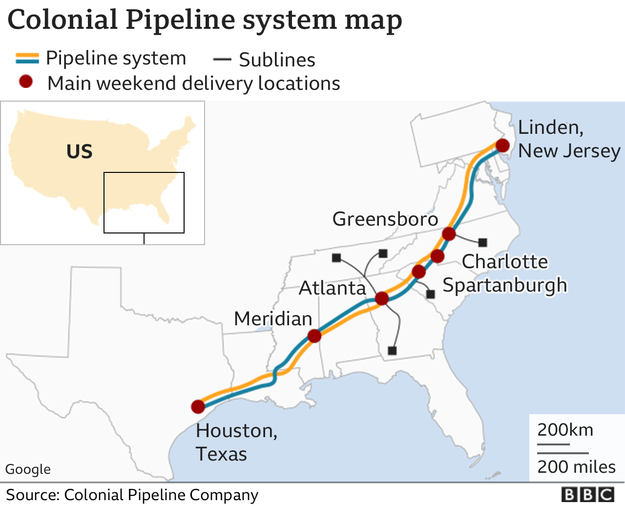 US passes emergency waiver over fuel pipeline cyber-attack - BBC News