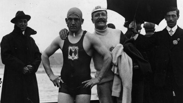 Nadador en 1908
