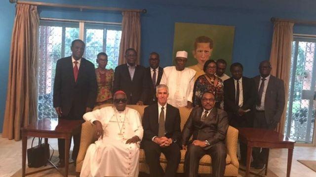 Peter Henry Barlerin plus Cameroon leaders