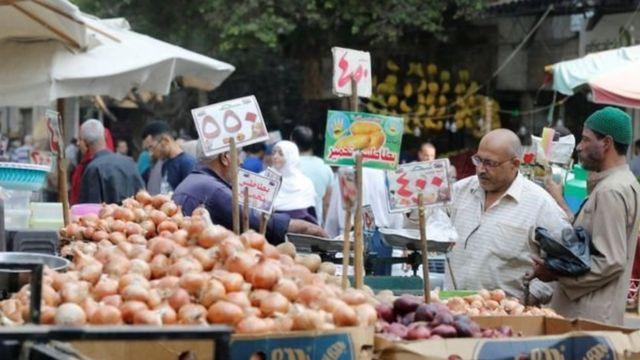 سوق للخضروات في مصر