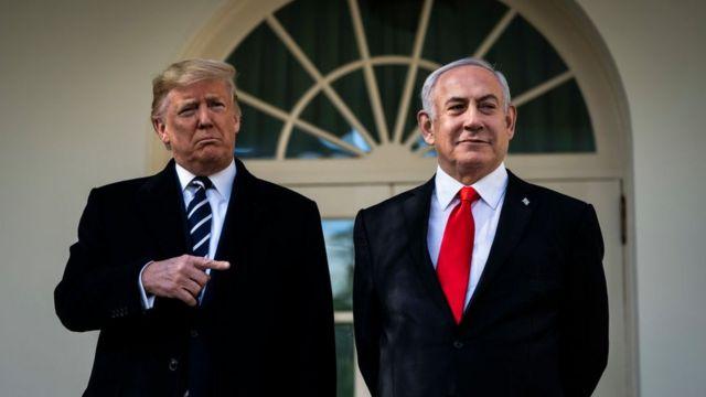 """El plan de paz de Trump propone un """"Estado Palestino"""" con capital en  Jerusalén Este y el reconocimiento de los territorios ocupados por Israel -  BBC News Mundo"""