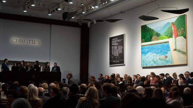 Hockney painting breaks auction record for living artist