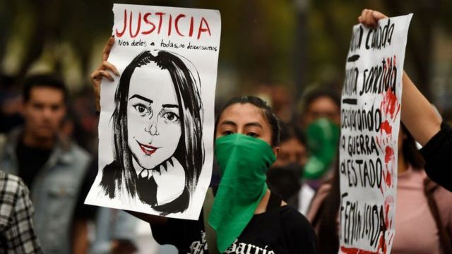 Protest in Mexico for violence against women
