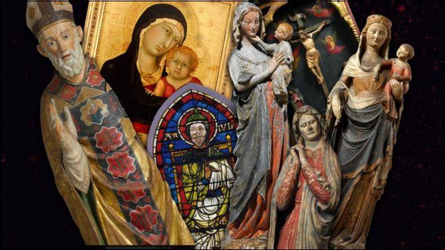Arte da Idade Média utilizando cores fortes