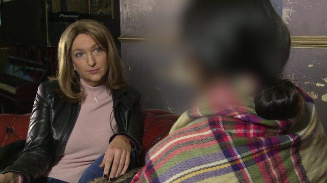 Victoria Derbyshire speaking to 'Laura'