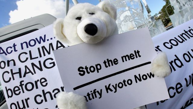 Climate change protest in 2007