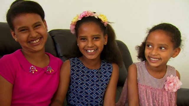 Three children being helped by the scheme