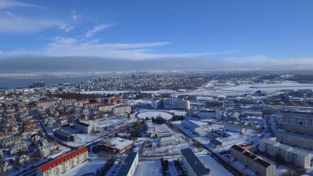 Vista aérea de Reikiavik