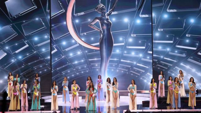 Contestants for stage for di Miss Universe 2021 Pageant