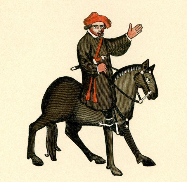 """Una ilustración que muestra al protagonista del """"Cuento del marino"""", de Chaucer."""