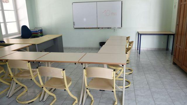 Salón de clases en Pontourny