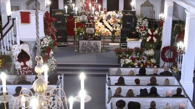 The funeral of Lemmy