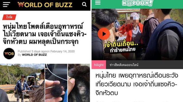 Sự việc gây chú ý dư luận trên các trang mạng xã hội Thái Lan