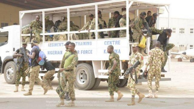 Nigeria Air force soldiers for Zamfara