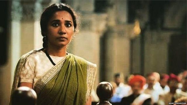 રુકમણીબાઈનું પાત્ર ભજવી રહેલી નાયિકાની તસવીર