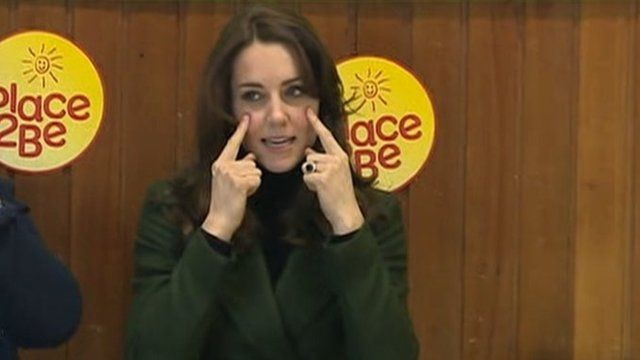 Duchess of Cambridge joins a primary school sing-a-long