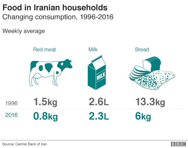 Iranian household food consumption