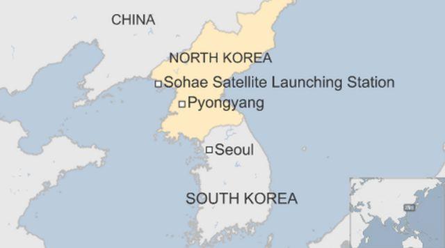 「西海衛星発射場(Sohae Satellite Launching Station)」の位置