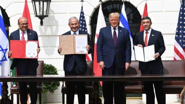 特朗普在白宫主持中东和平协议签署