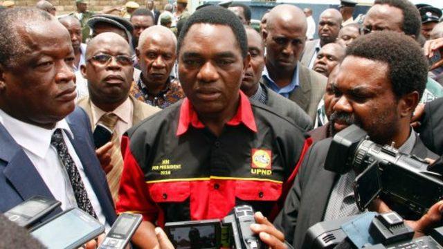 Des dirigeants du Parti uni pour le développement national, une formation de l'opposition zambienne
